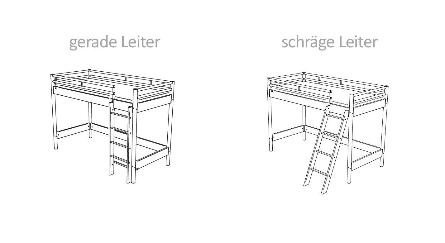 Leiter-Varianten des halbhohen Bettes Lorena