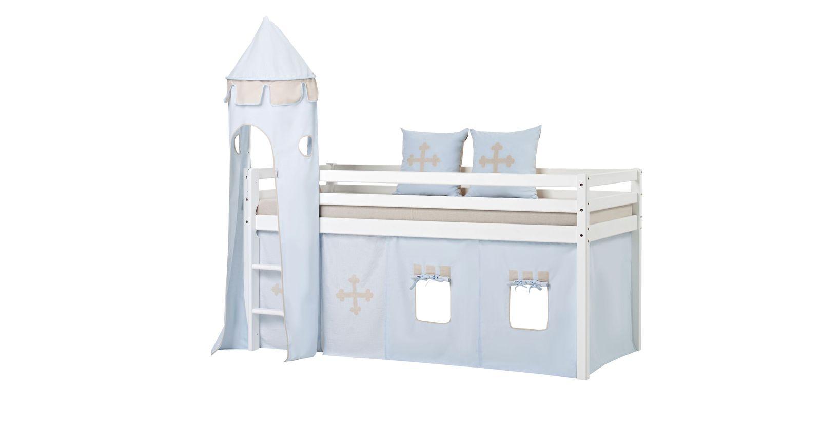 Halbhohes Bett Prinz mit 90x200 cm Liegfläche