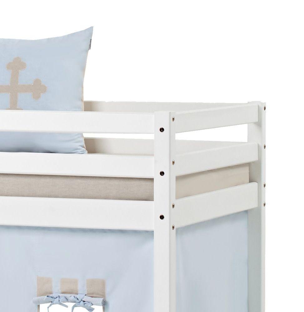 Halbhohes Bett Aus Kiefer Wei 223 Mit Leiter Und Lattenrost