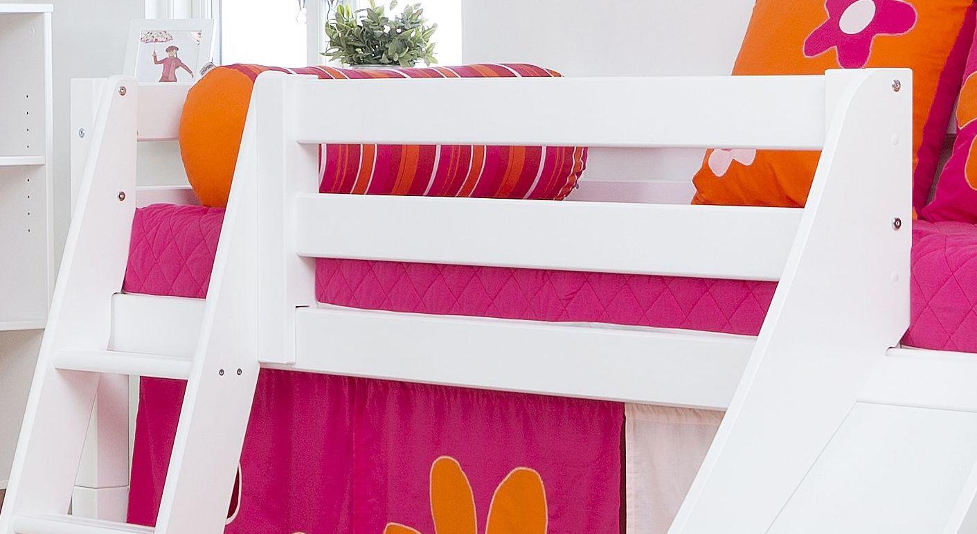 Halbhohes Rutschen-Bett Kids Royalty mit stabiler Absturzsicherung