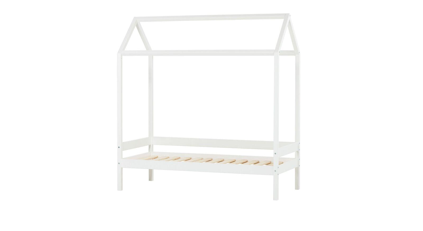 Weißes Hausbett Kids Heaven in Weiß 70x160 cm