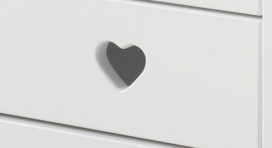 Herz-Fräsung der Möbelserie Asami