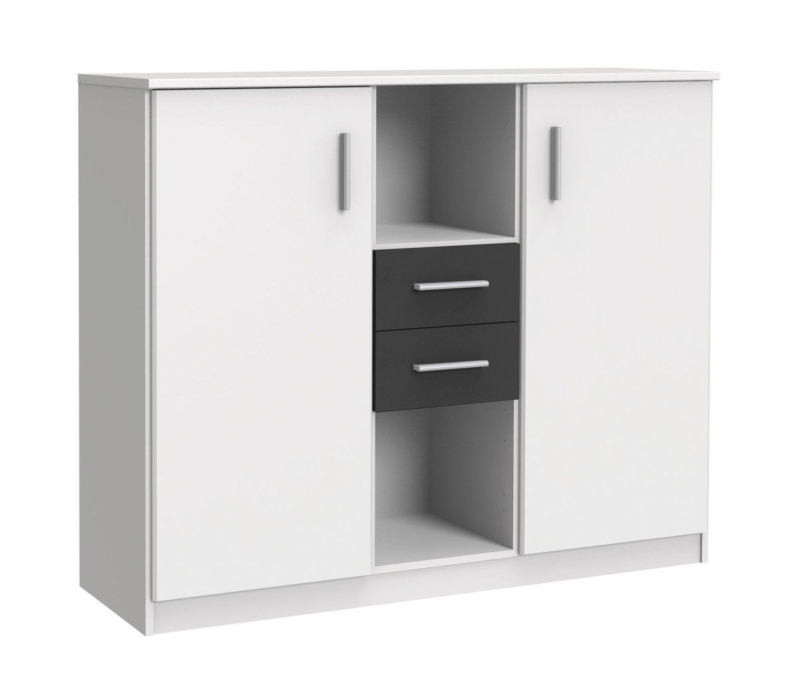g nstiges highboard mit offenen f chern und schubladen facundo. Black Bedroom Furniture Sets. Home Design Ideas