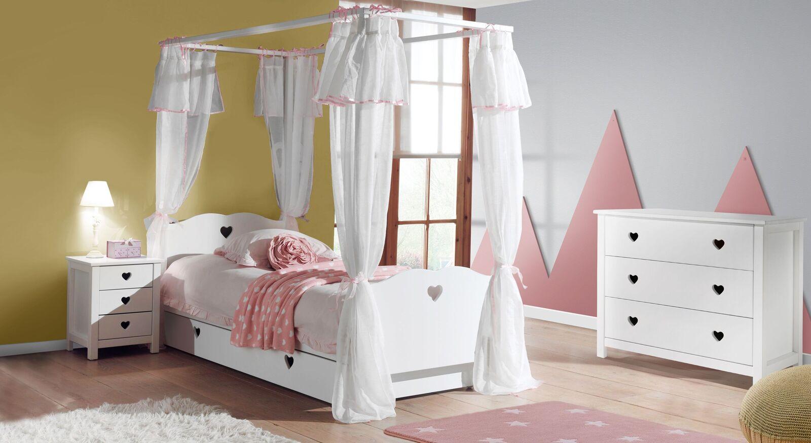 Modernes Himmelbett Asami inklusive Bettschublade