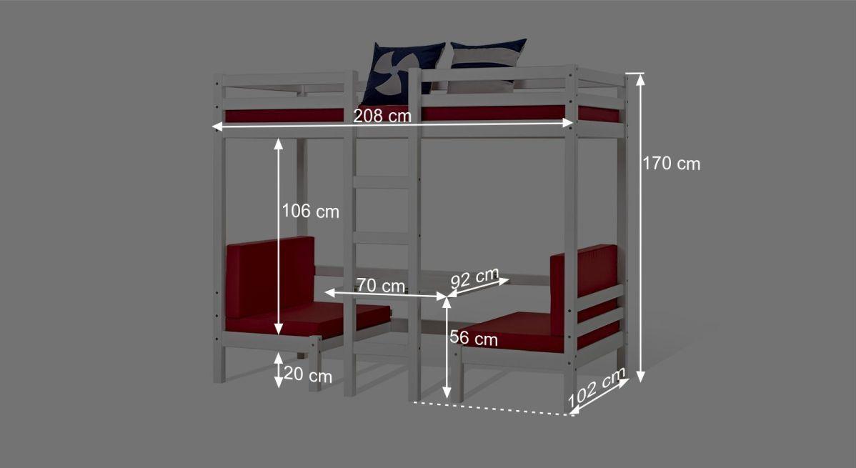 Etagenbett Hoch : Einhängeregal hoch und etagenbetten buche bio geölt