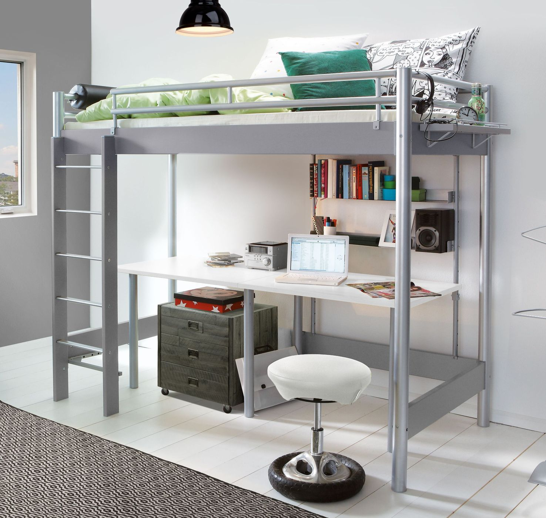 Metall-Hochbett für Studenten in zwei Breiten - Jan | BETTEN.de