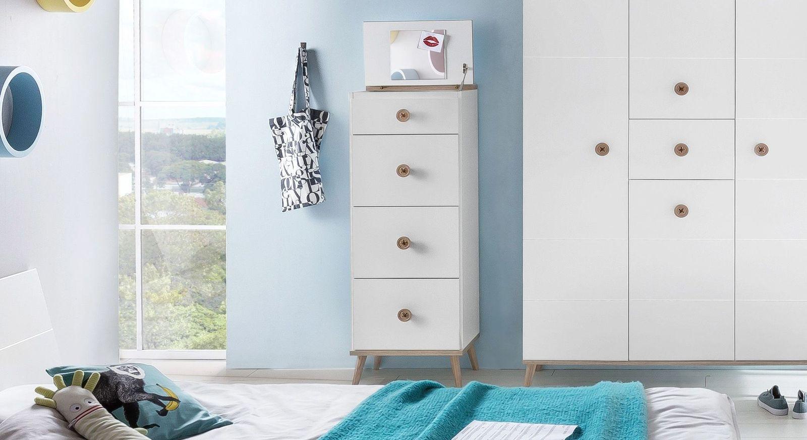 hochkommode mit schubladen spiegel ausgestellten f en. Black Bedroom Furniture Sets. Home Design Ideas