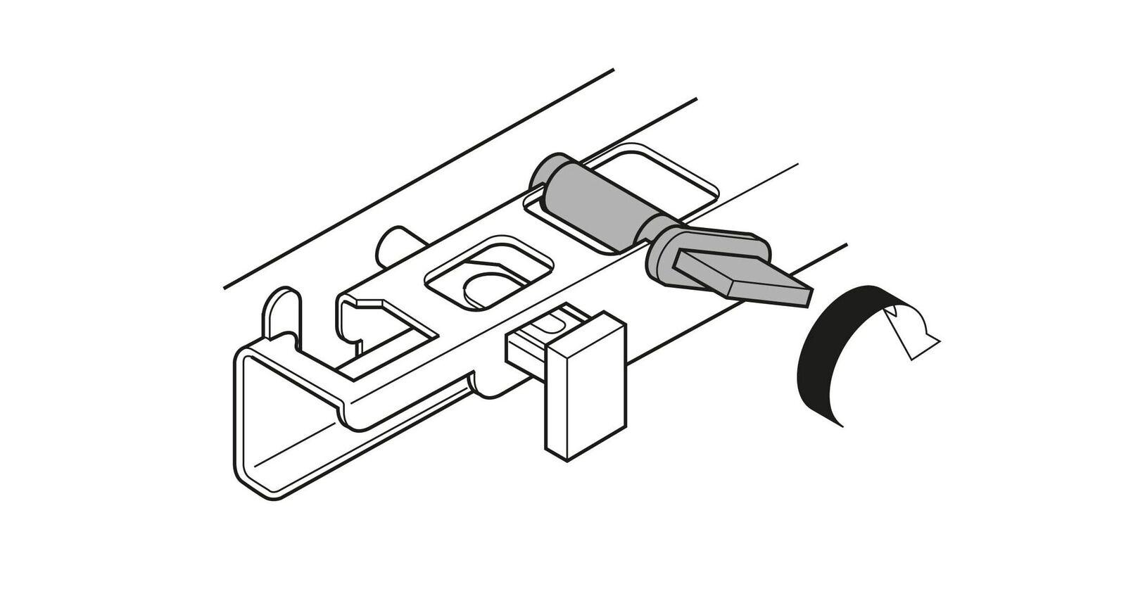 Höhenverstellung für optimale Justierung der Schublade