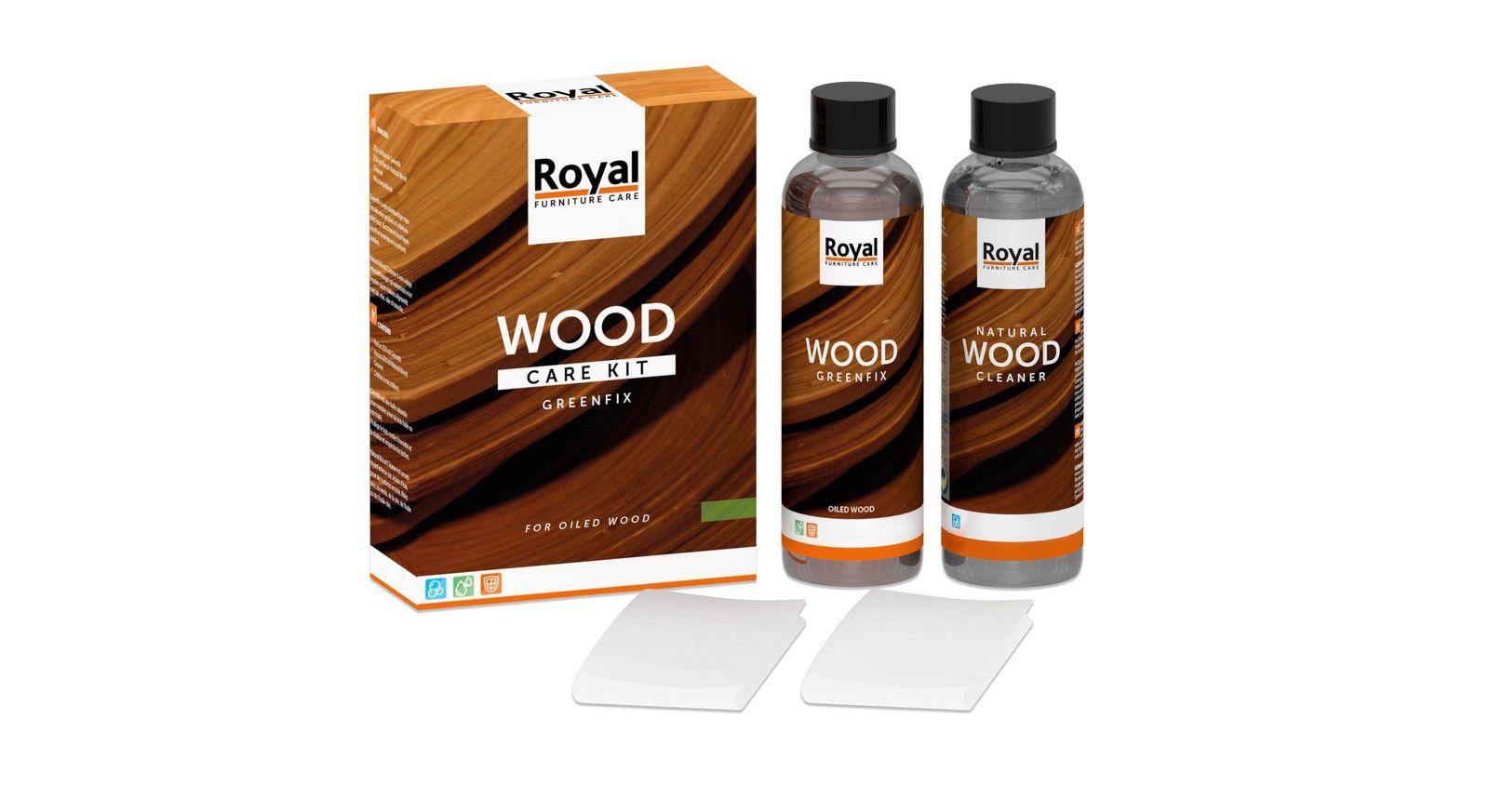 Preiswertes Holzpflegeset für geölte Oberflächen inklusive Reinigungstuch