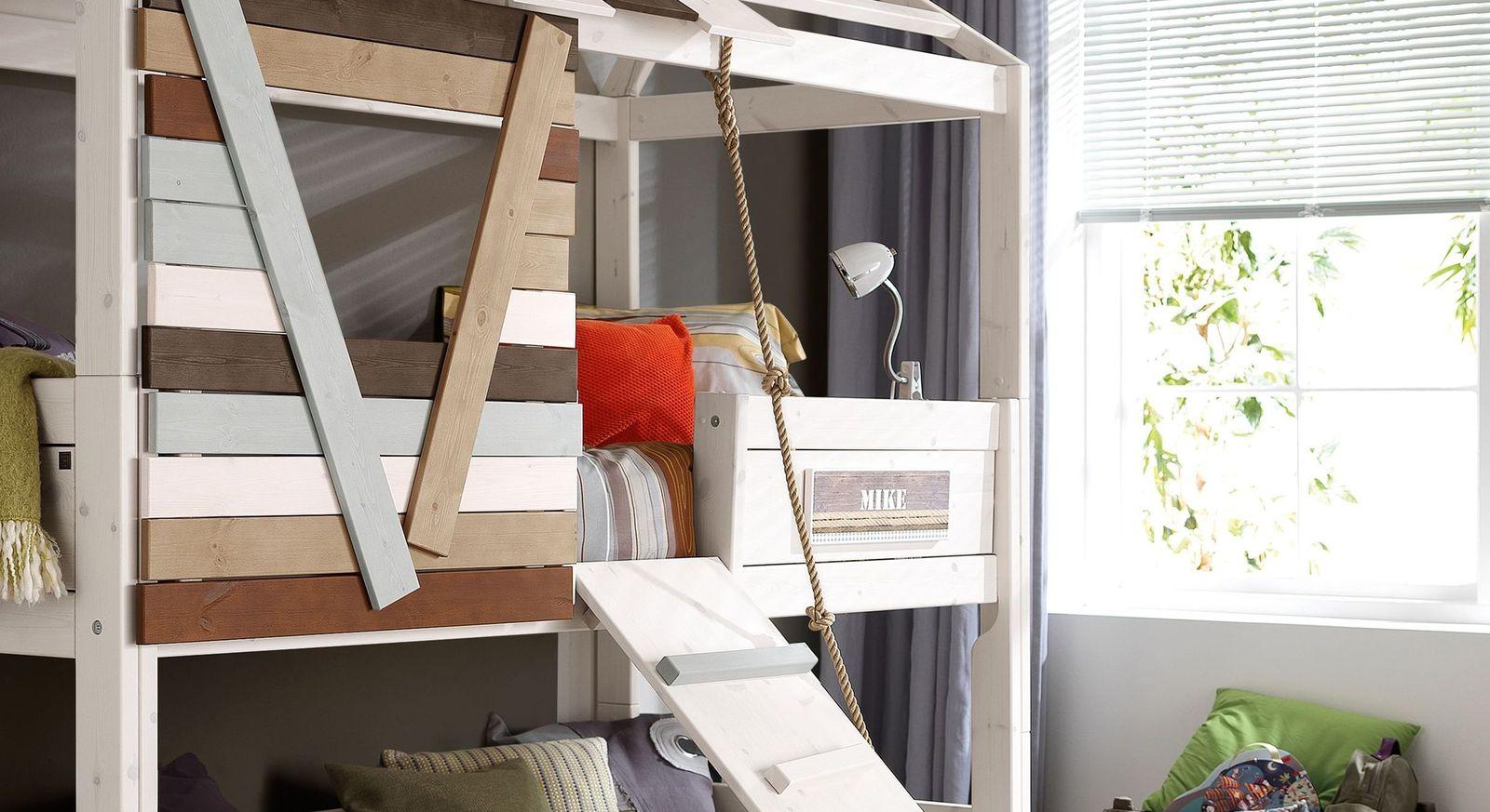 LIFETIME Hütten-Hochbett Survival mit sicherem Einstieg