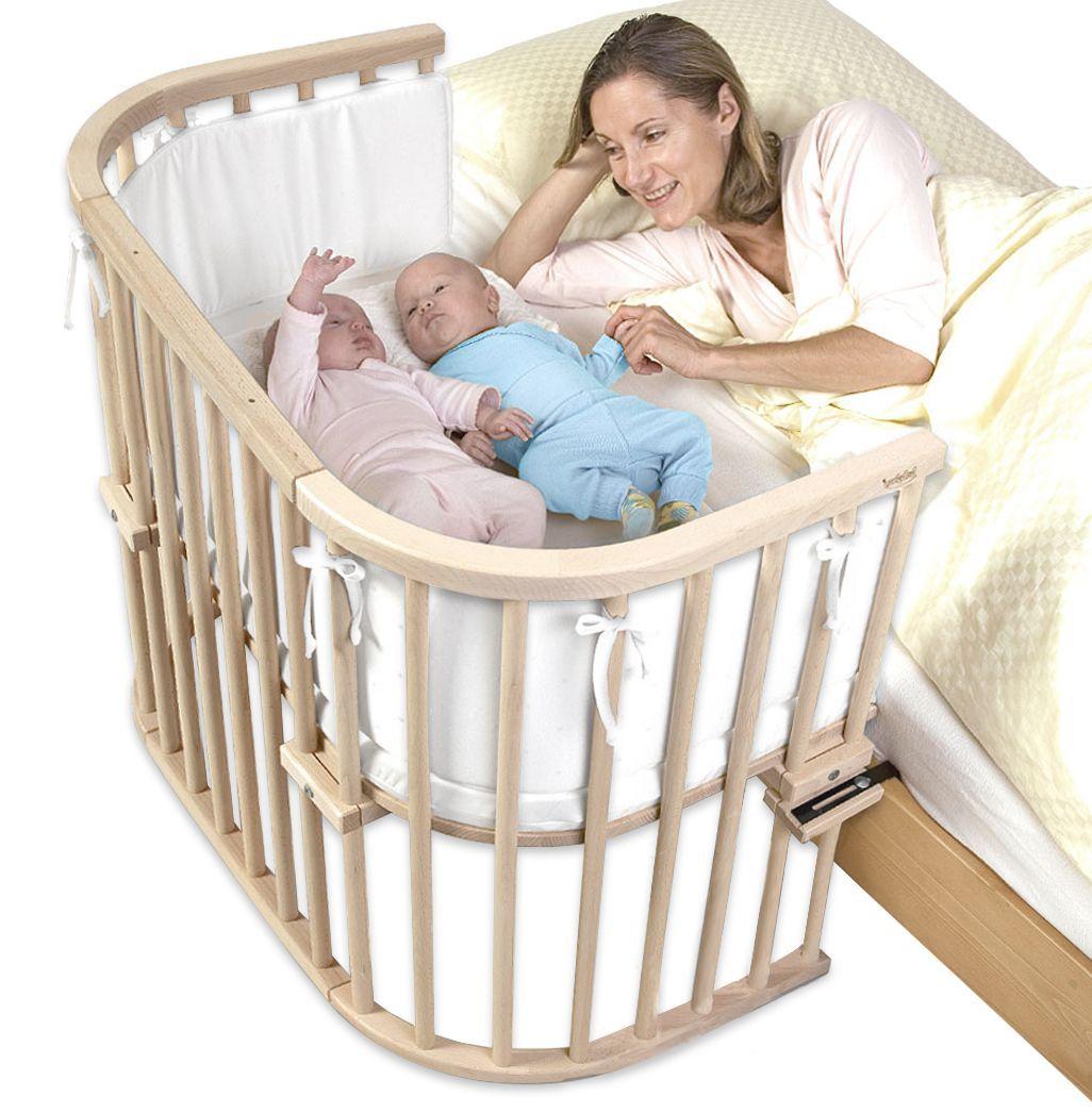 Stubenwagen zwillinge modern  Beispielbett auch für Zwillinge geeignet - BabyBay Maxi