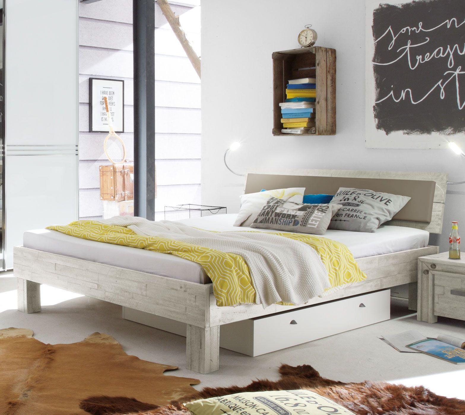 Bett Im Industrial Design Aus Akazie Caldera Betten De