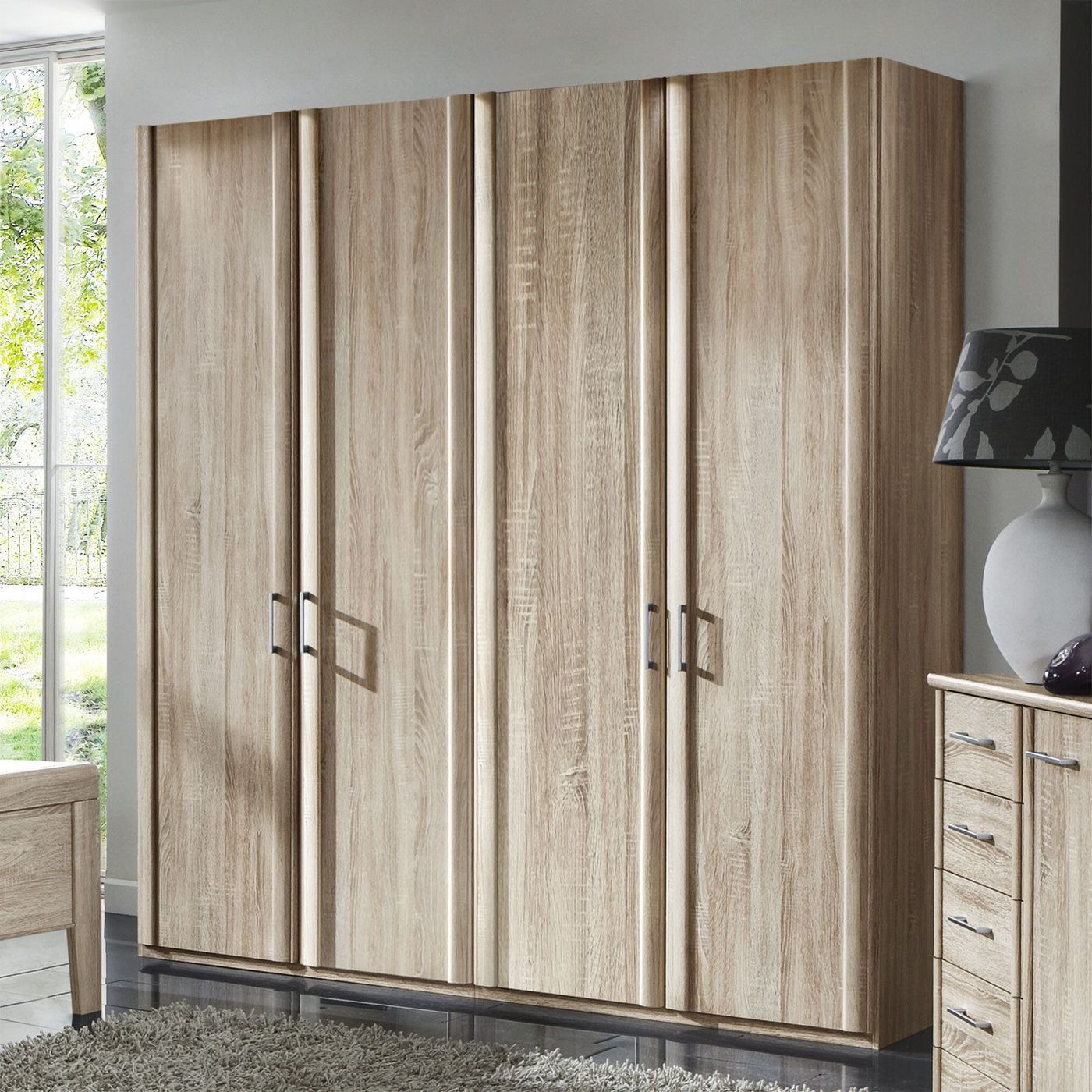 dreht ren kleiderschrank in eiche dekor runcorn. Black Bedroom Furniture Sets. Home Design Ideas