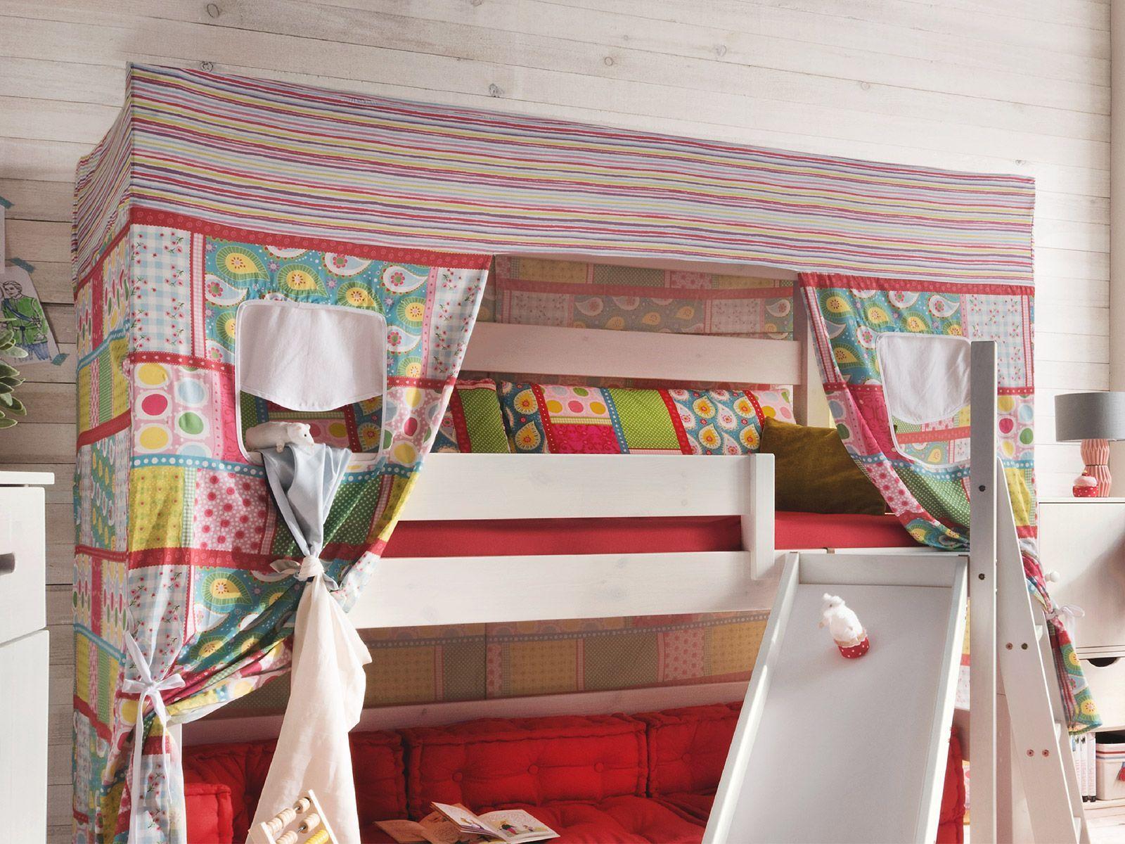 Himmel Für Etagenbett : Himmelbett hochbett kiefer mit rutsche & baldachin kids dreams