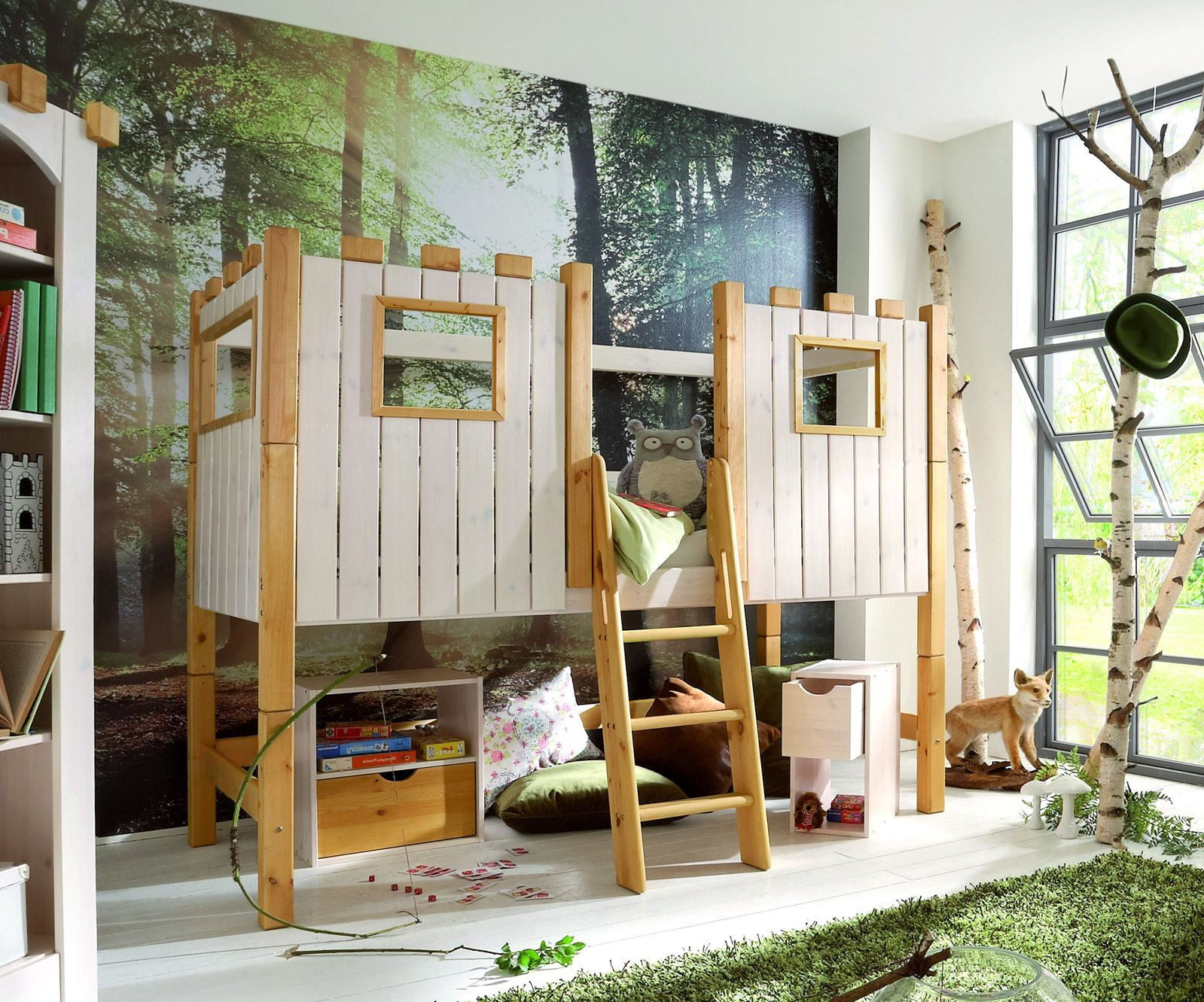 Etagenbett Burg : Etagenbett burg hochbett mit betten lifetime bett in neu aus