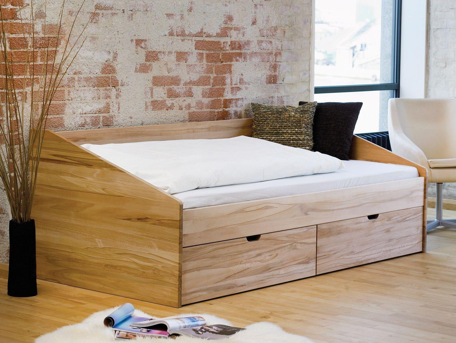 sch nes einzelbett aus buche in 90x200 cm bett d nemark. Black Bedroom Furniture Sets. Home Design Ideas