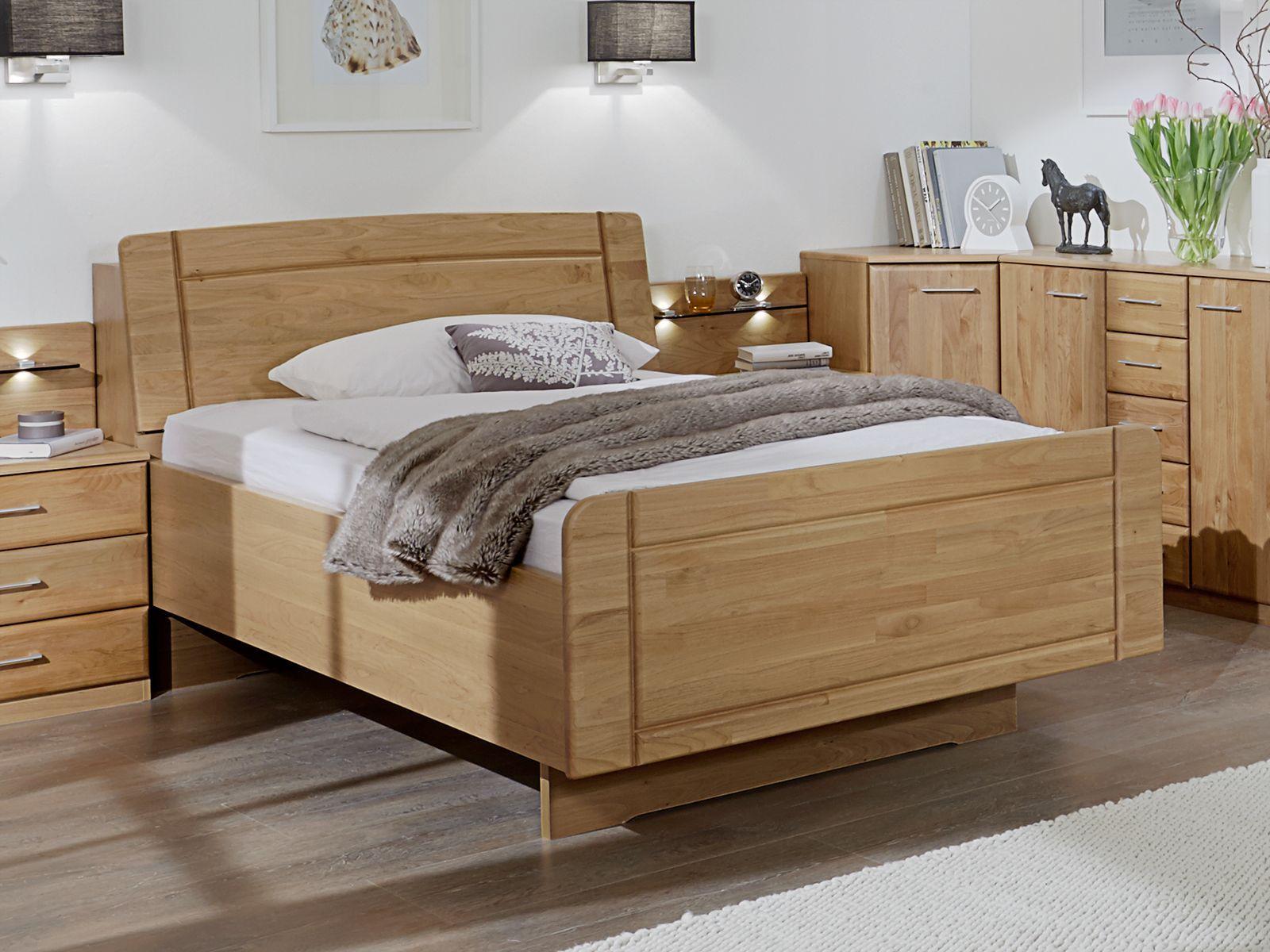 seniorenbett mit bettkasten im kopfteil erle teilmassiv ageo. Black Bedroom Furniture Sets. Home Design Ideas