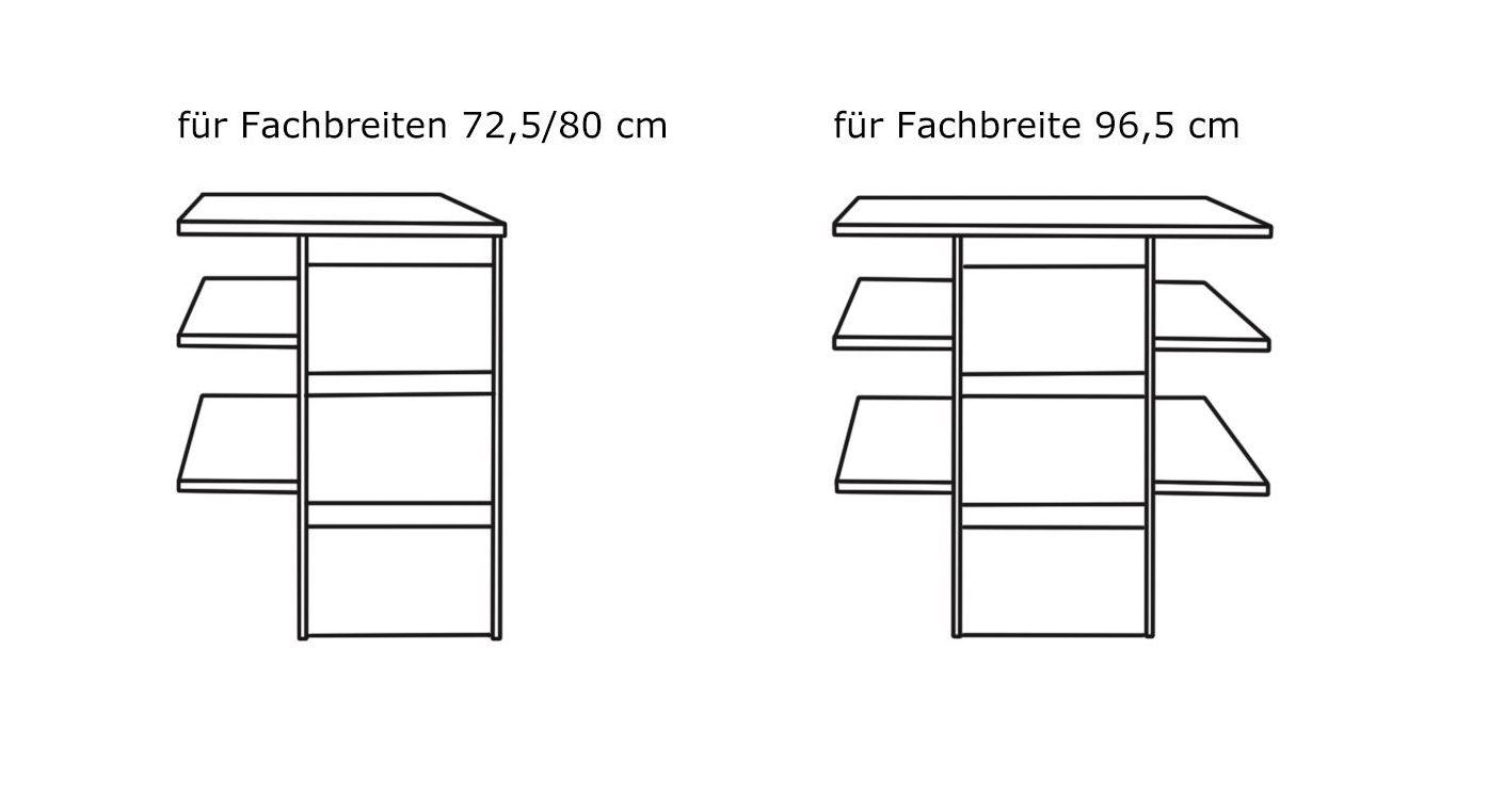 Grafik zum Fächereinsatz für Innenausstattung für Schwebetüren-Kleiderschränke Streifen silbergrau