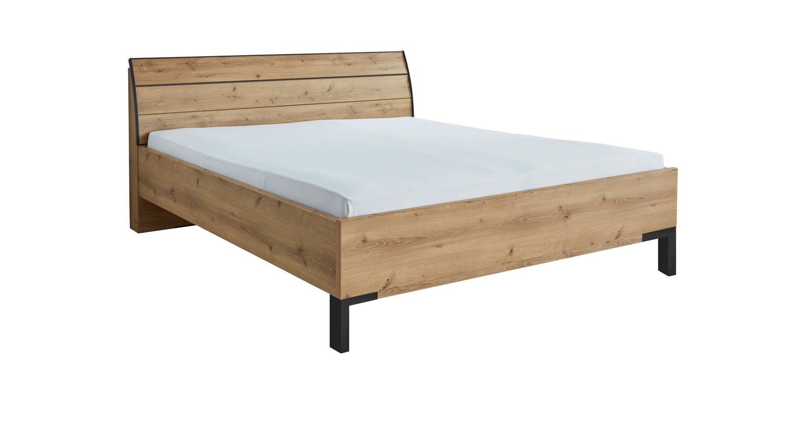 INTERLIVING Bett 1205 mit pflegeleichter Dekoroberfläche
