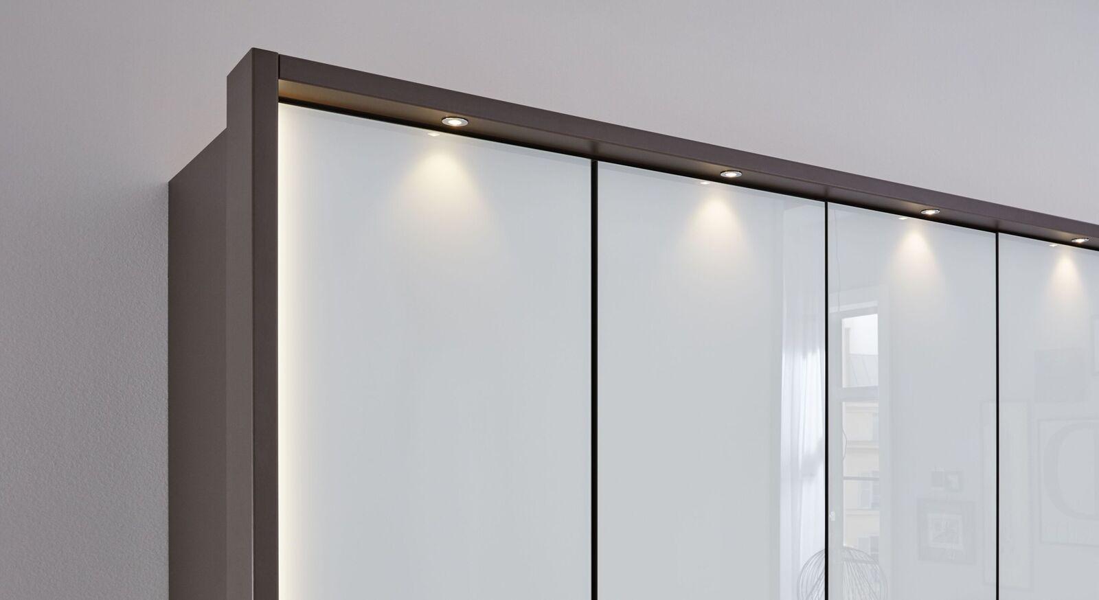 INTERLIVING Funktions-Kleiderschrank 1006 mit havannafarbenem Rahmen