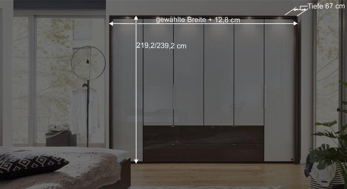 Bemaßungsgrafik Interliving Funktions Kleiderschrank 1006