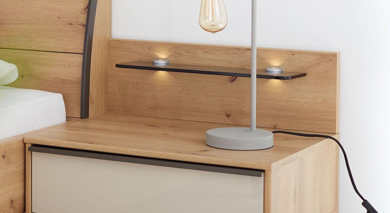 INTERLIVING Nachttisch Paneel 1205 mit schmaler Ablage