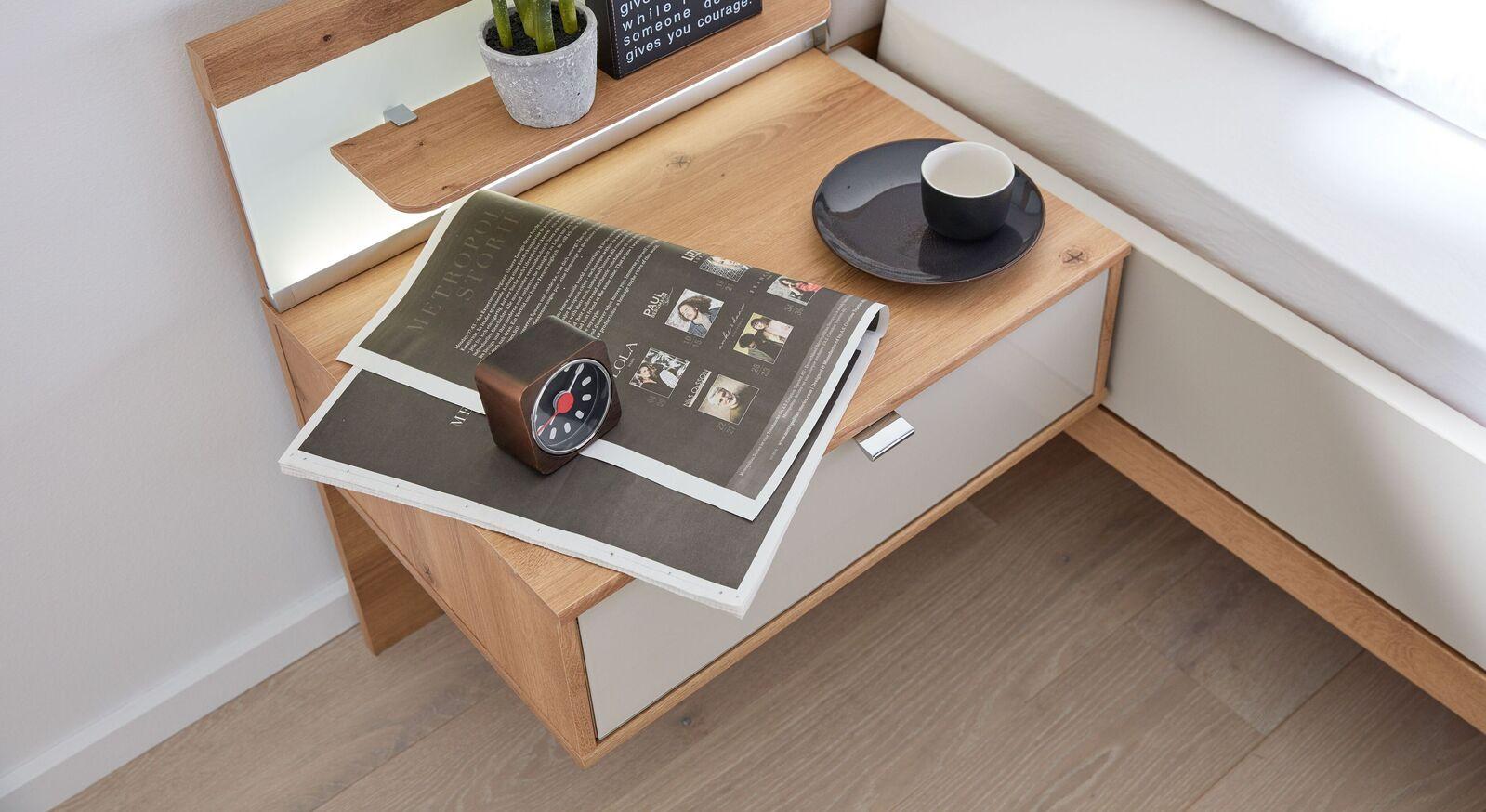 INTERLIVING Schwebe-Nachttisch 1017 mit großer Ablagefläche