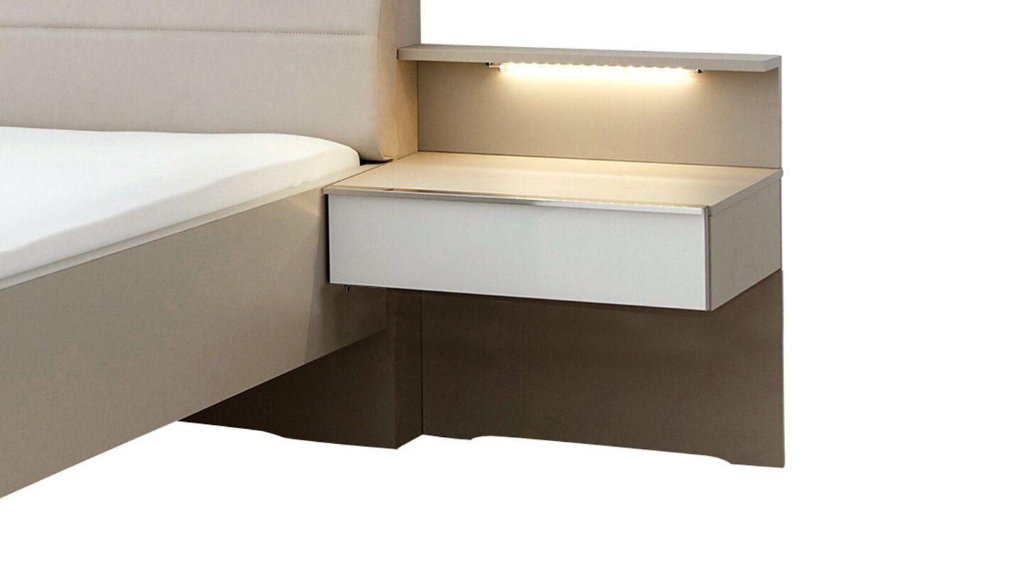 INTERLIVING Schwebenachttisch 1009 in geradlinigem Design