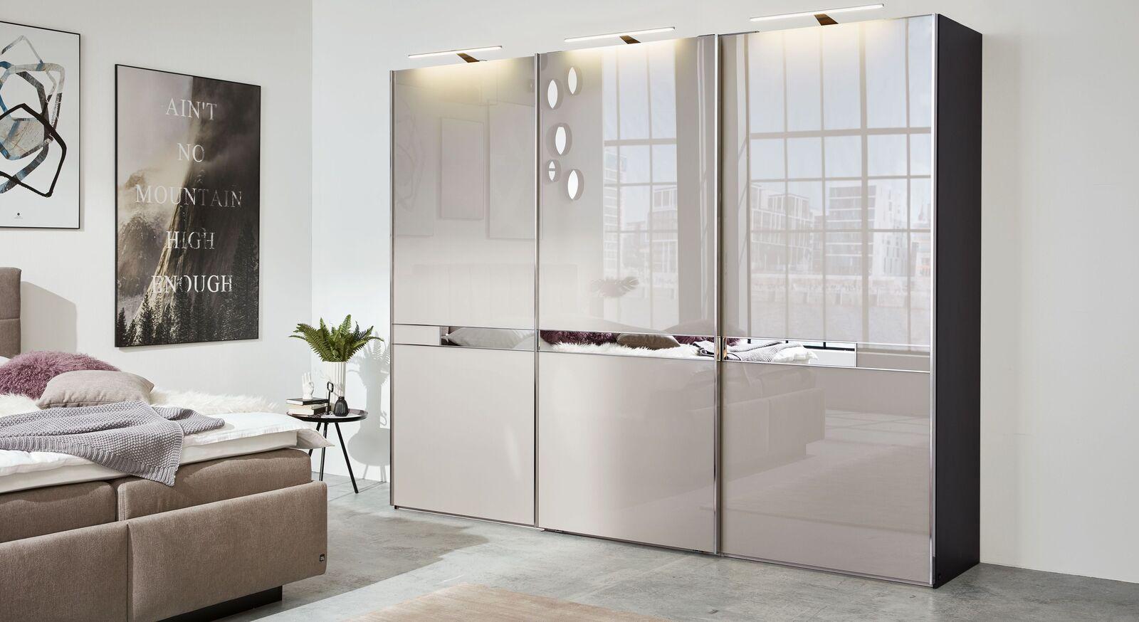 INTERLIVING Schwebetüren-Kleiderschrank 1206 mit moderner Glasfront