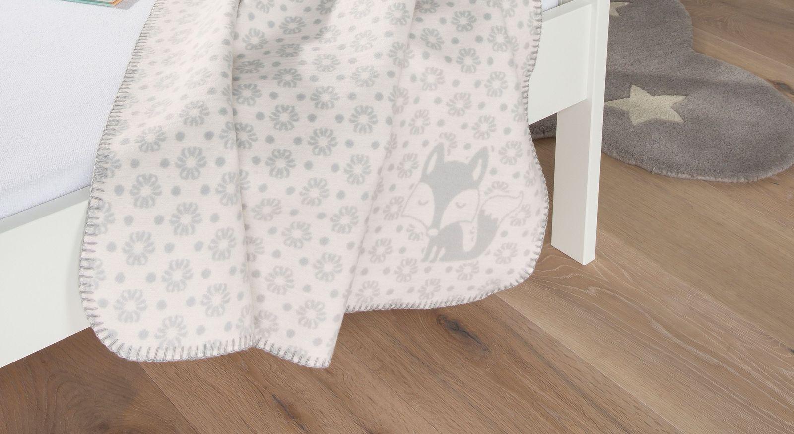 Niedliche Jacquarddecke Fuchs für Kinder