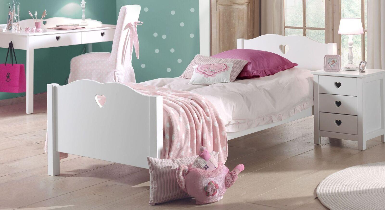 Weißes Jugendbett Asami für Mädchenzimmer