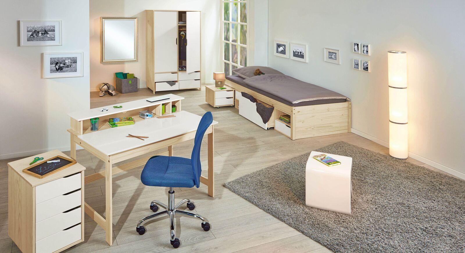 Jugendzimmer Erin mit Möbeln und Zubehör