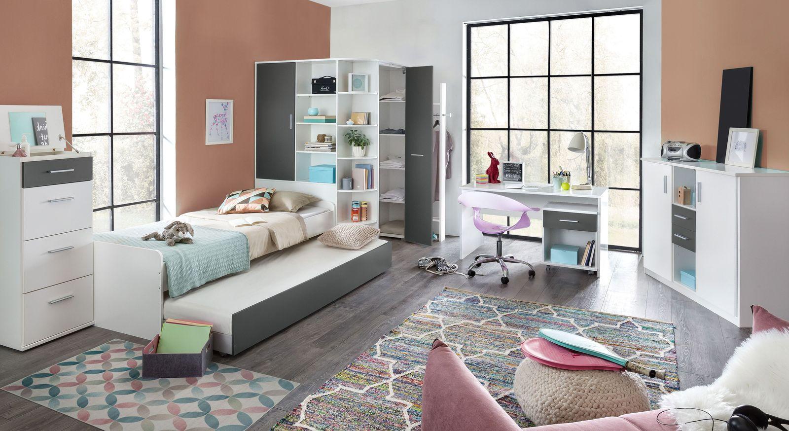 Jugendzimmer Facundo mit alpinweißer Dekor-Oberfläche