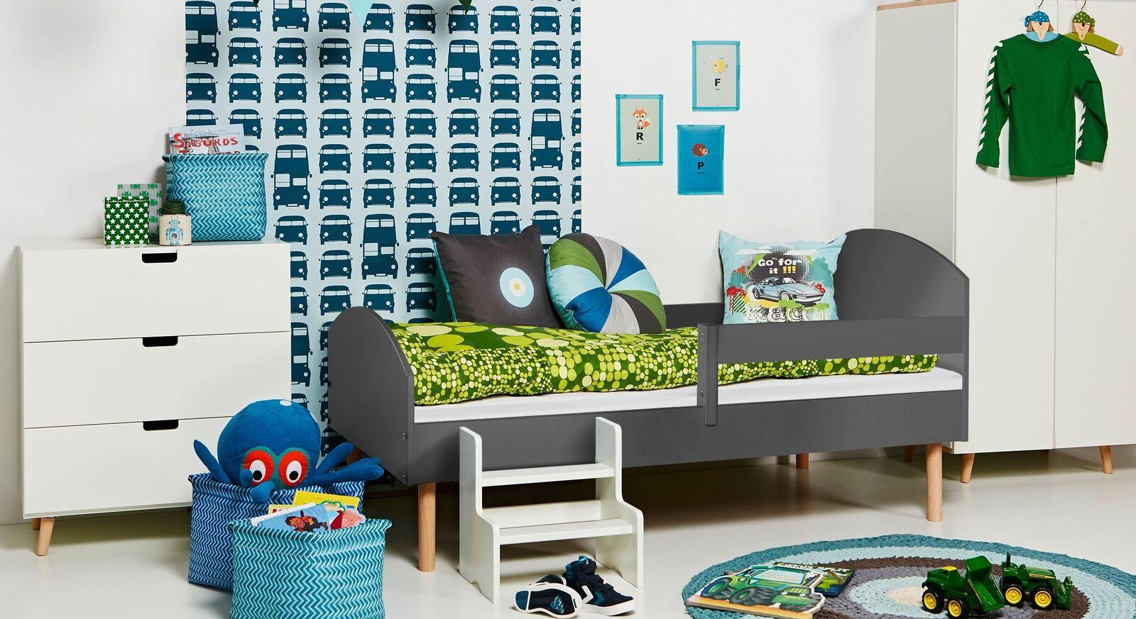 Juniorbett Kids Town Retro mit passenden Kinderzimmer-Möbeln