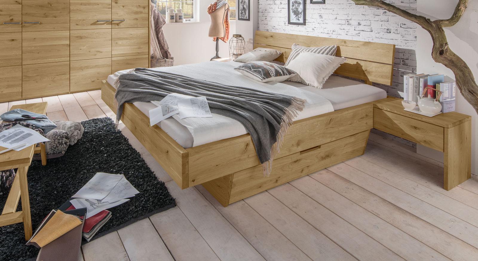 Stauraum-Bett Kärnten mit praktischem Schubkasten