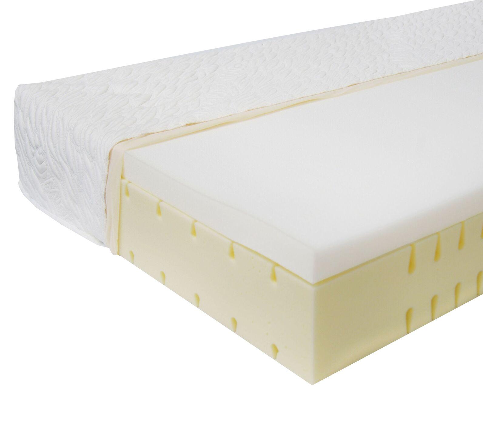 Kaltschaum-Matratze orthowell visco mit ergonomischen Einschnitten