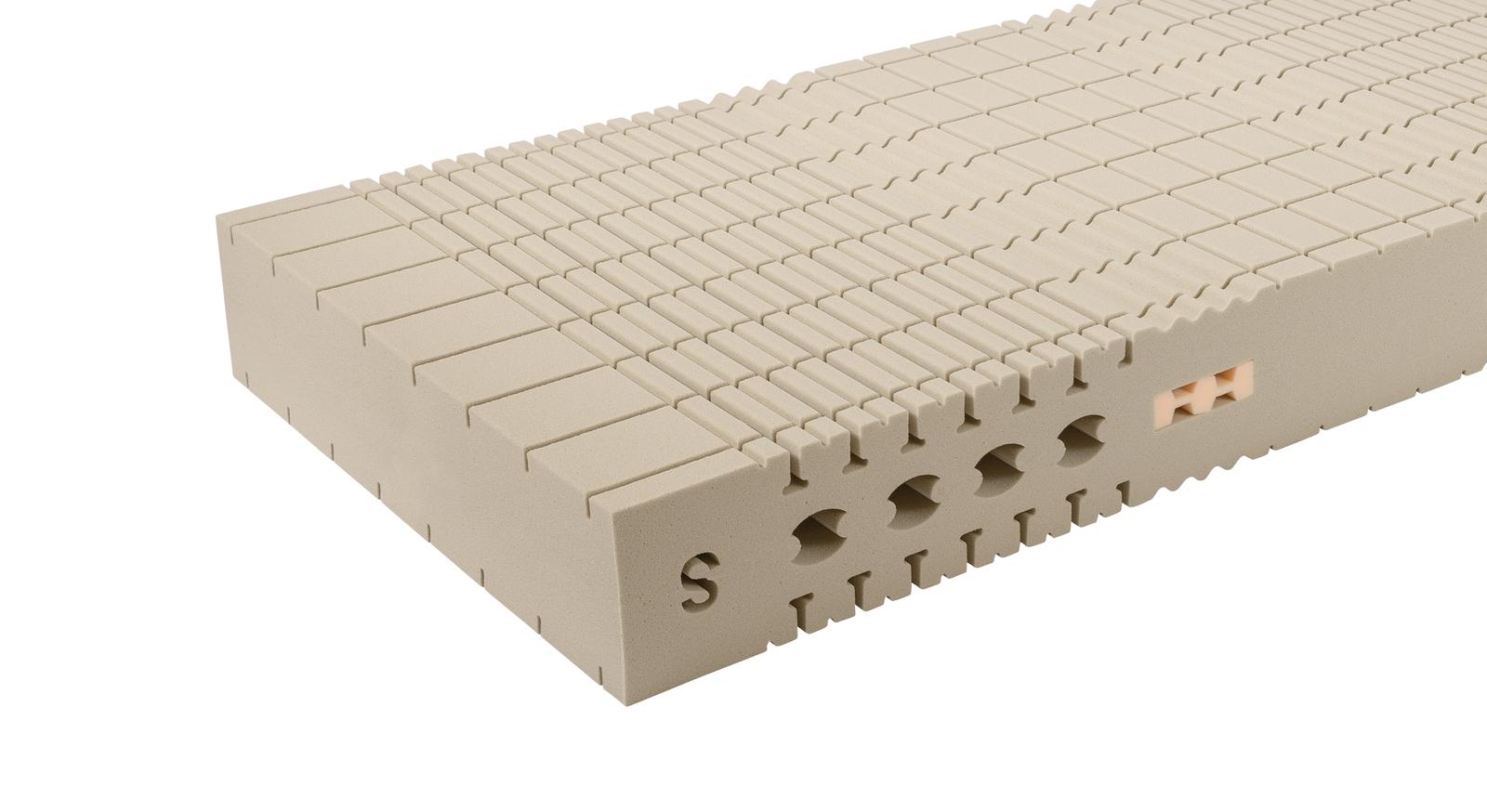 Schaumkern der Kaltschaum-Matratze orthowell luxus plus mit hohem Raumgewicht