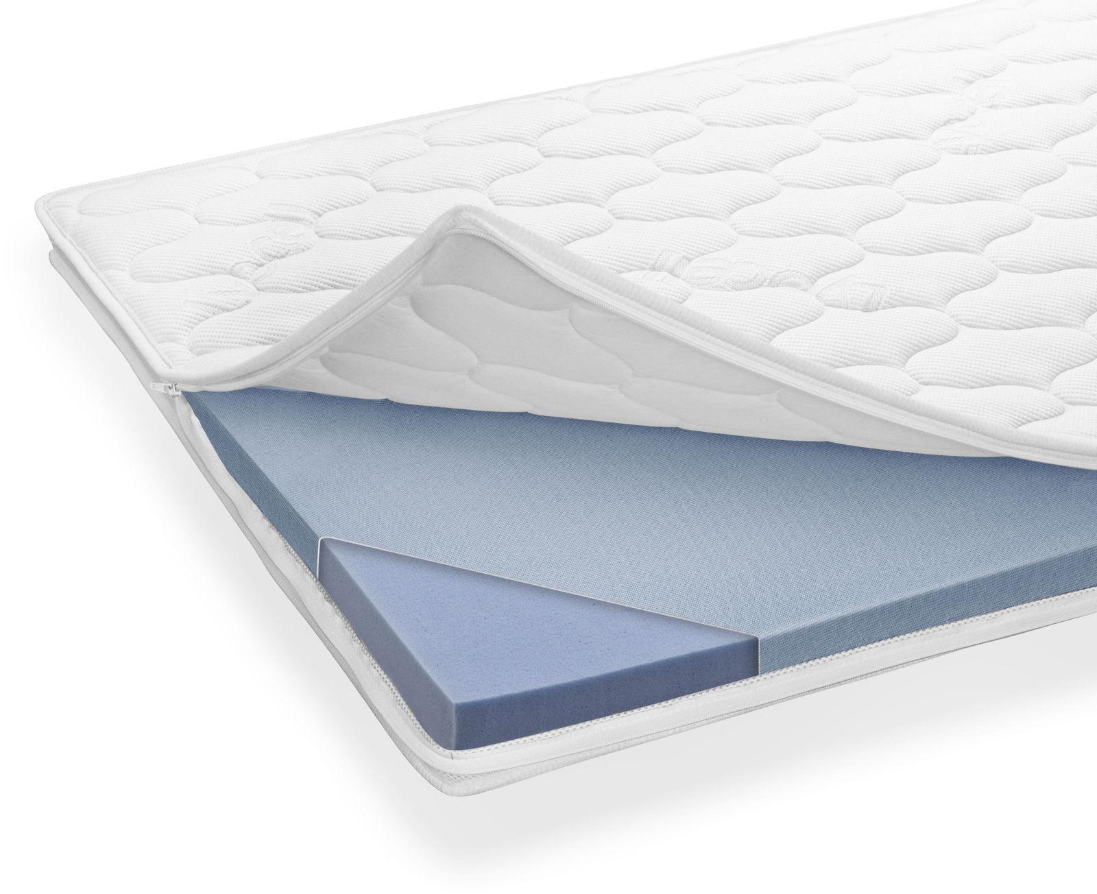 fl chenelastischer topper aus kaltschaum mit waschbarem bezug. Black Bedroom Furniture Sets. Home Design Ideas