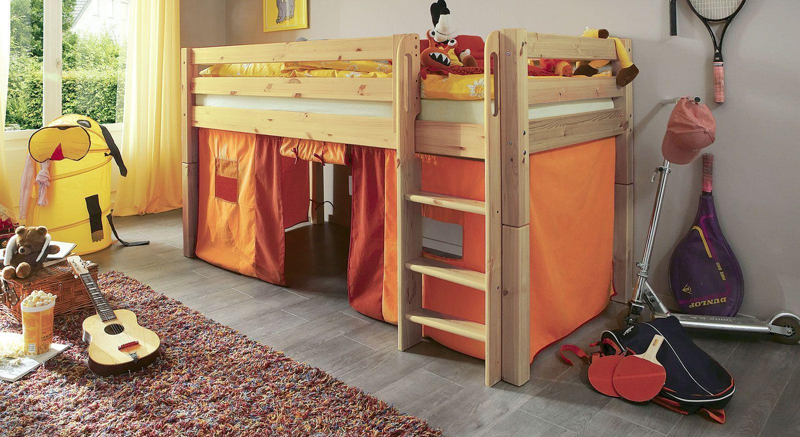 Mini-Hochbett Kids paradise Spielvorhang