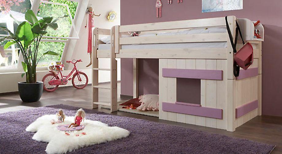 Mini-Hochbett Kids paradise Holz-Verkleidung