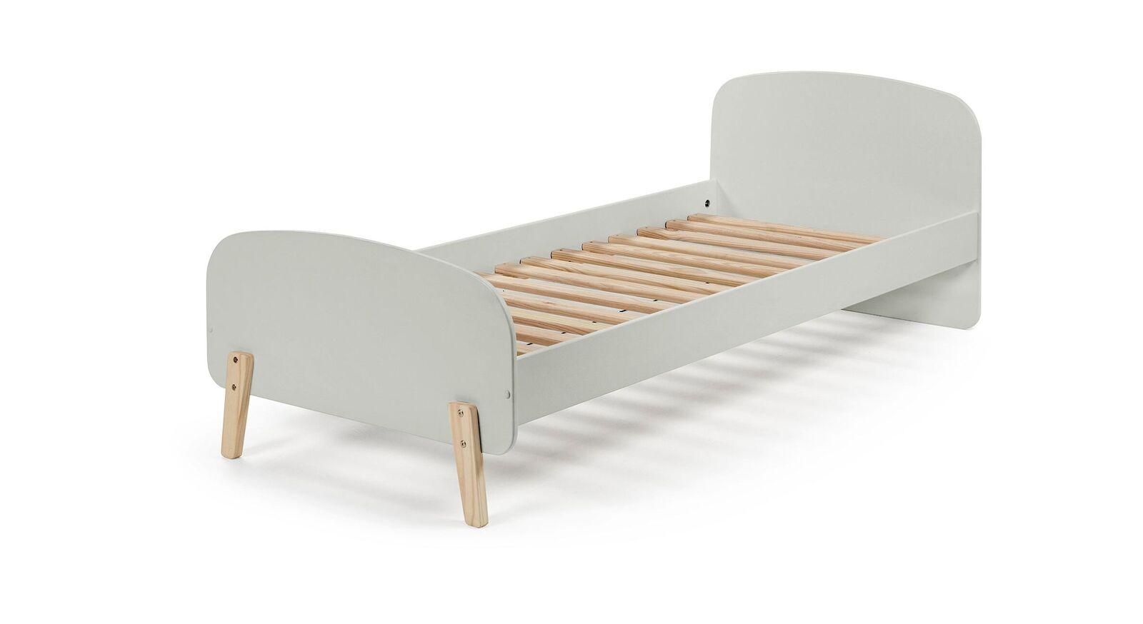 Grau lackiertes Kinderbett Maila Color