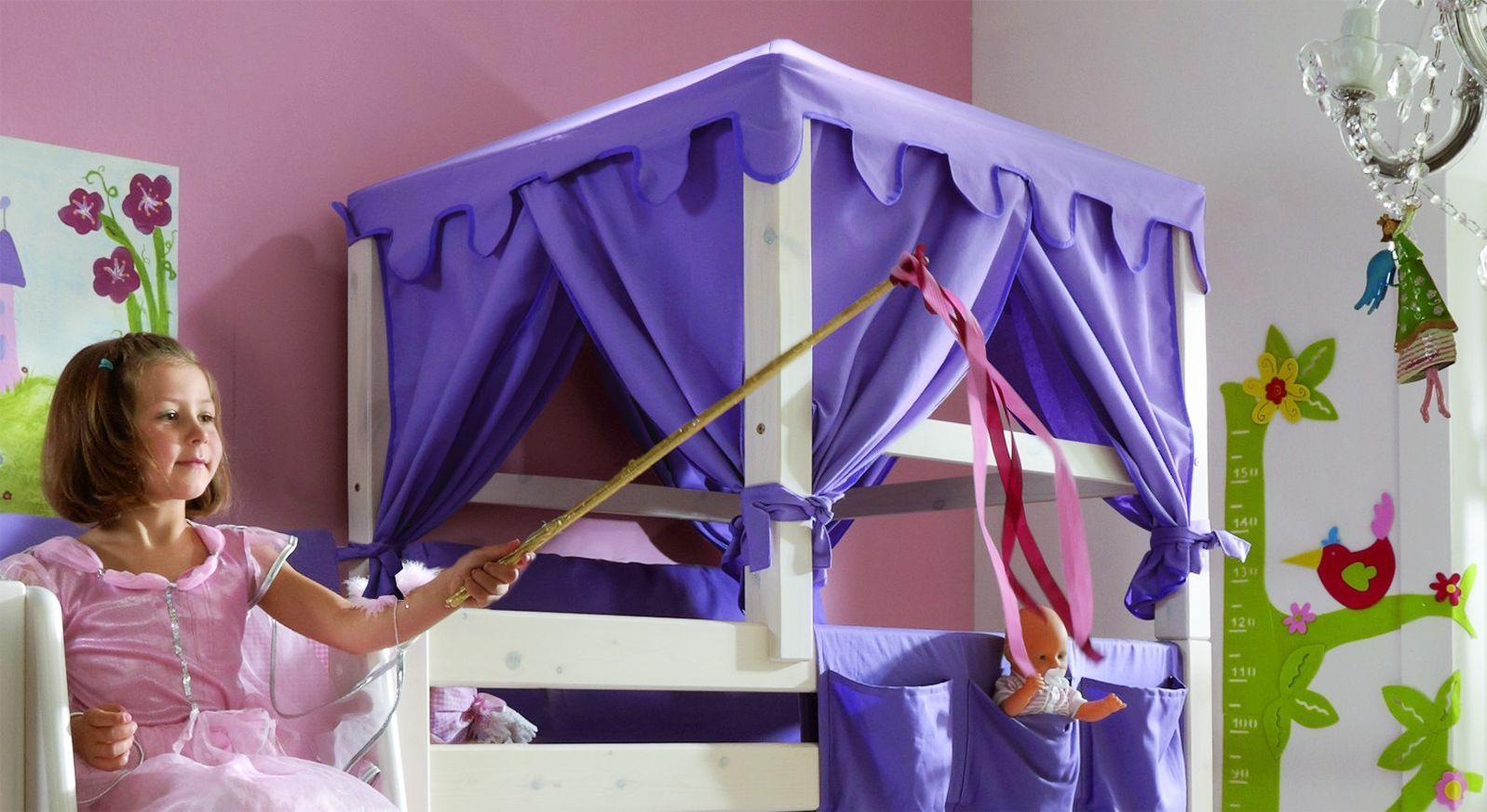 Kinder-Hochbett Kids Paradise mit Himmelaufsatz