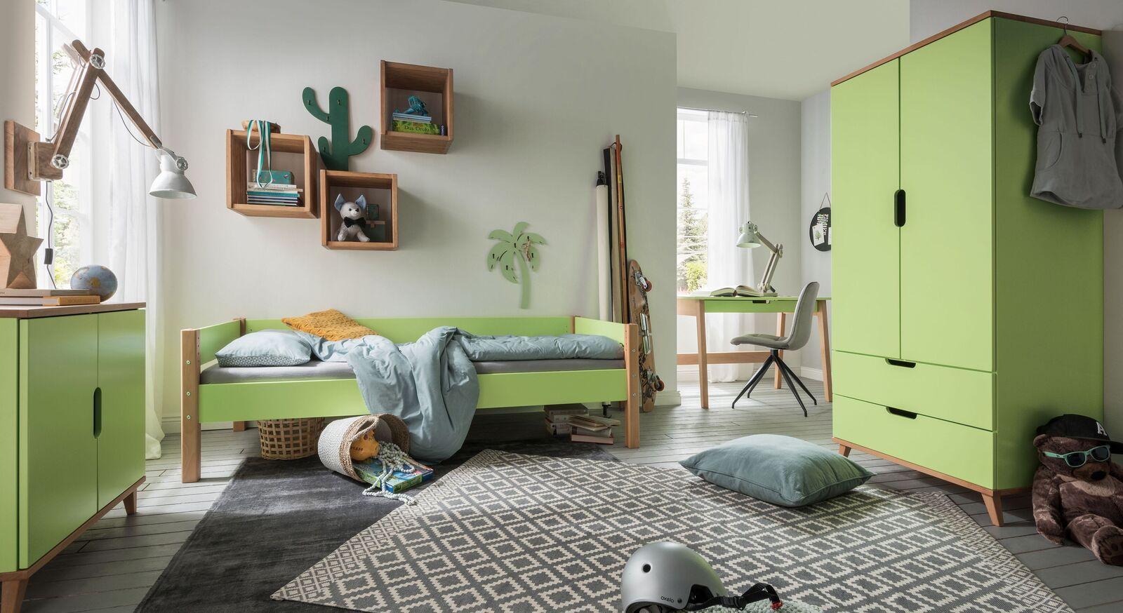 Zweifarbiges Kinderzimmer Kids Nordic in Grün