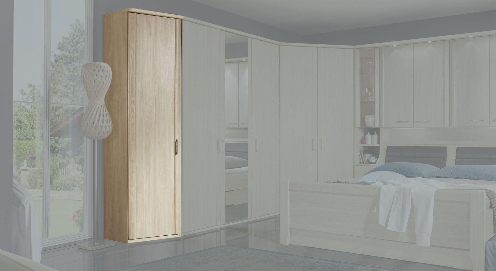 Kleiderschrank-Abschlusselement Palena als Erweiterung zu Schlafzimmermöbeln