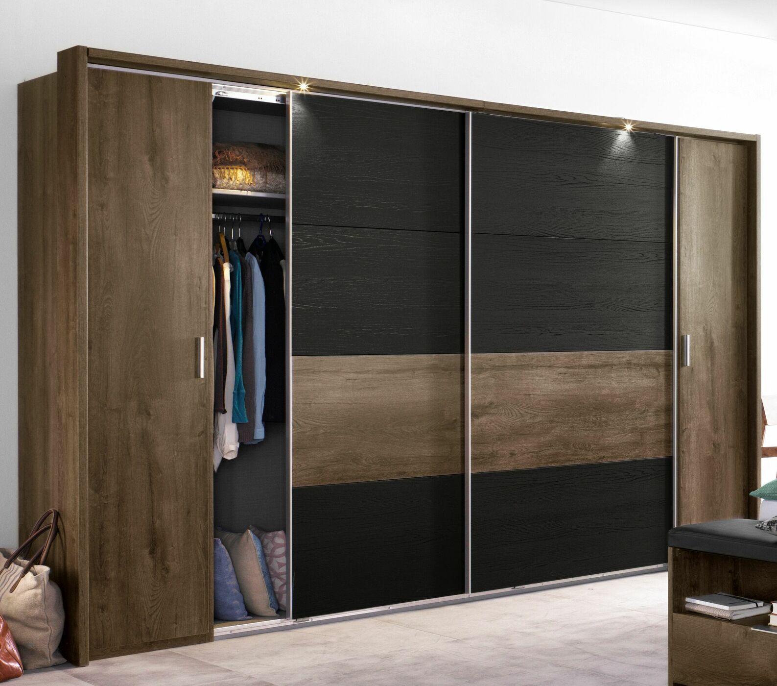 kleiderschrank holzdekor mit dreh und schwebet ren gallinaro. Black Bedroom Furniture Sets. Home Design Ideas