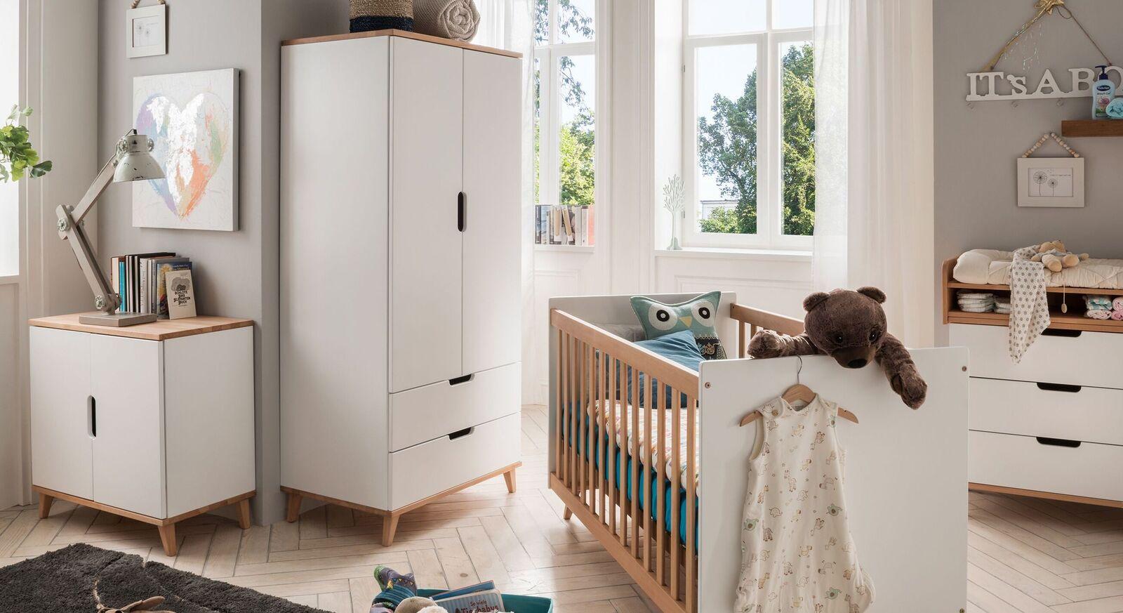 Kleiderschrank Kids Nordic mit zwei Schubladen