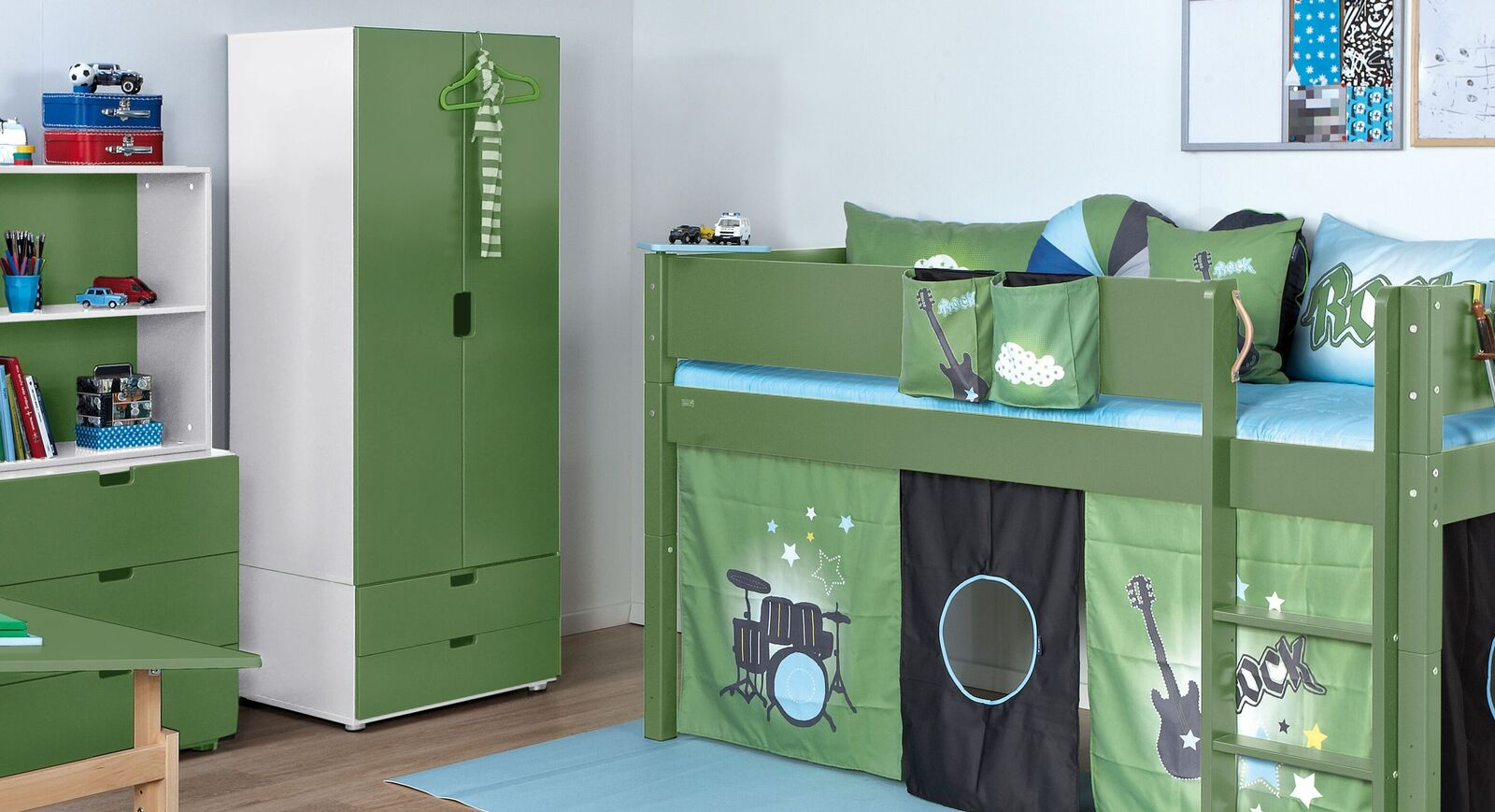Kleiderschrank Kids Town Color in MDF Dekor