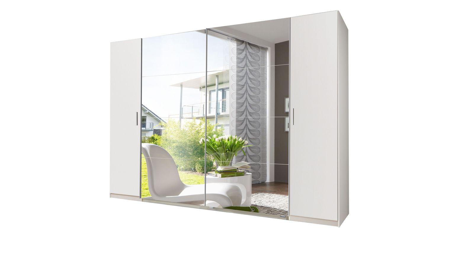 wei er spiegel kleiderschrank mit schiebe dreht ren maniago. Black Bedroom Furniture Sets. Home Design Ideas