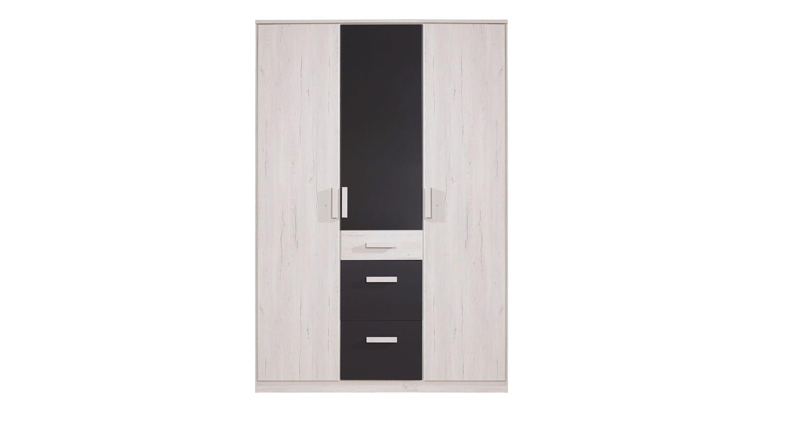 Günstiger Kleiderschrank Mereto mit 3 Türen