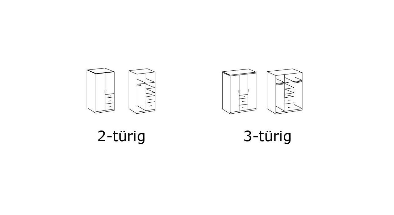 Grafik zum Kleiderschrank Mereto und Tropea